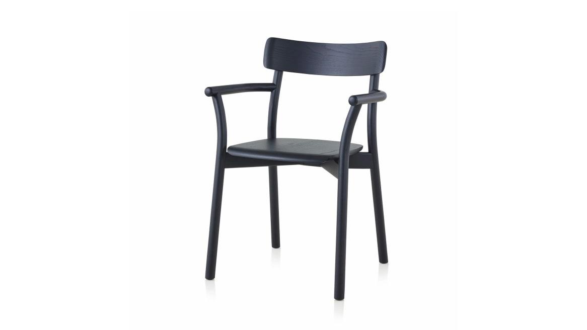 black chiaro armchair