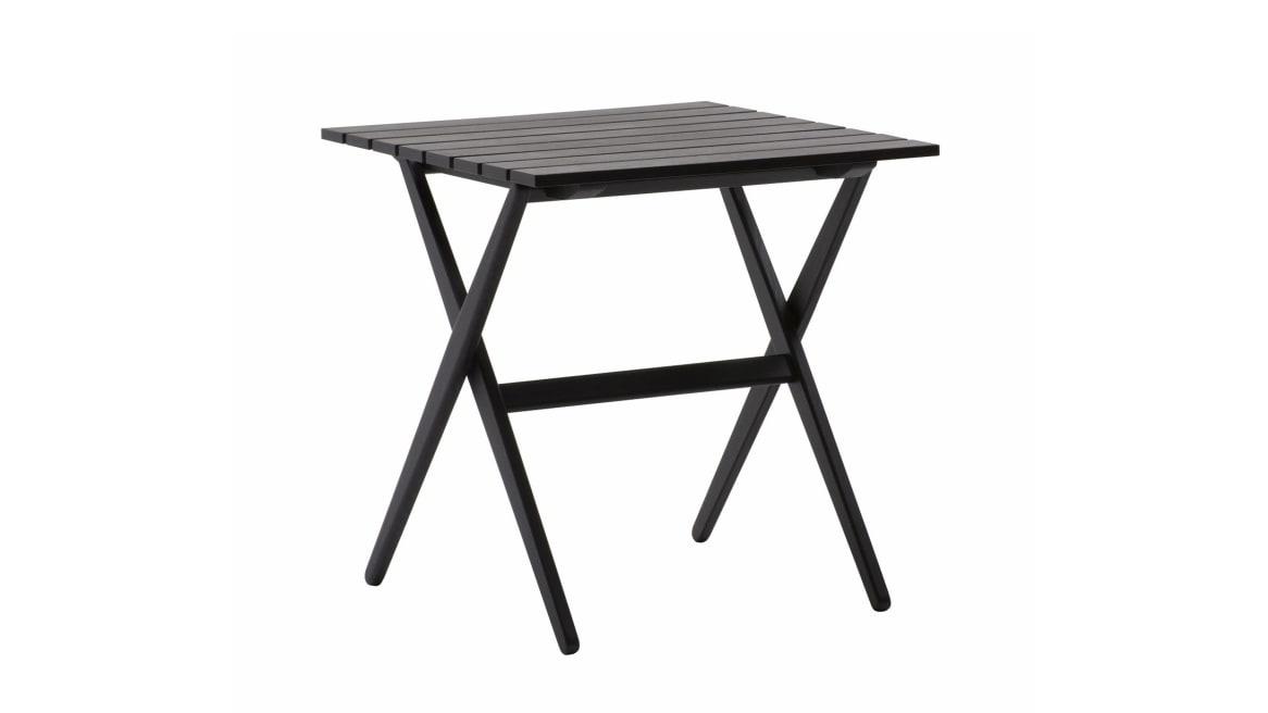 Fionda table in a black ash color