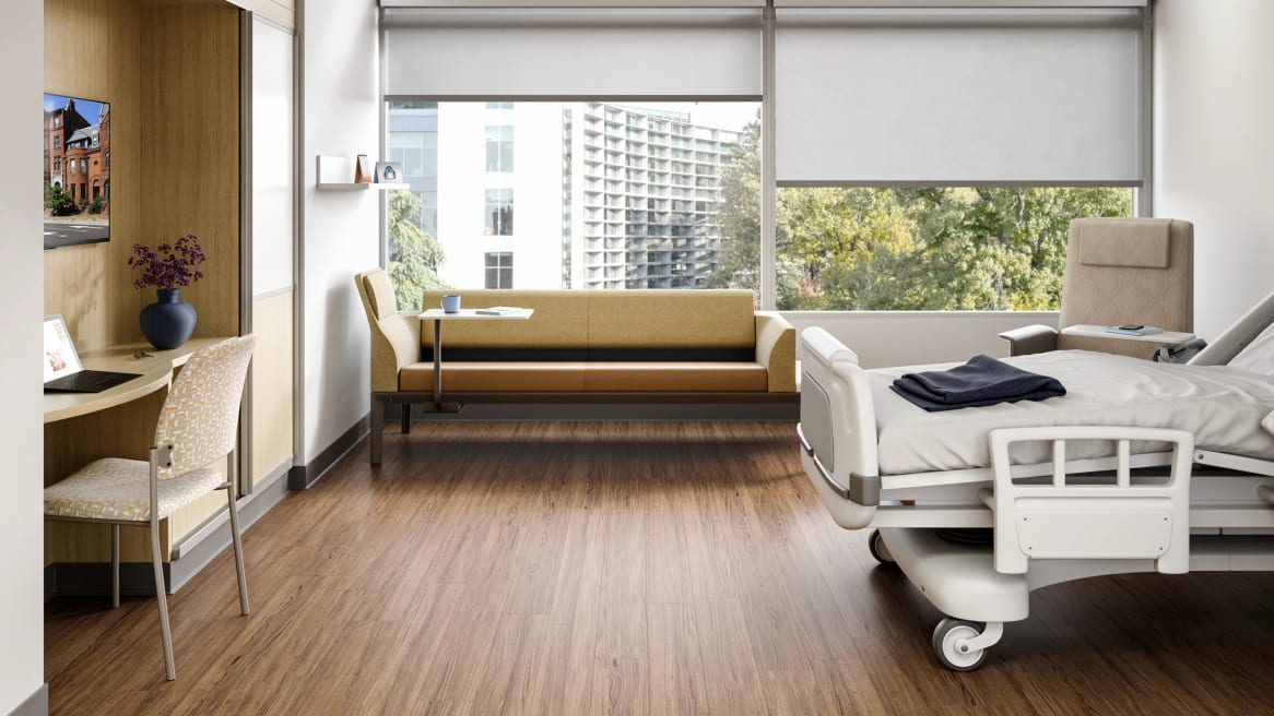 Convey Modular Casework inside a hospital room