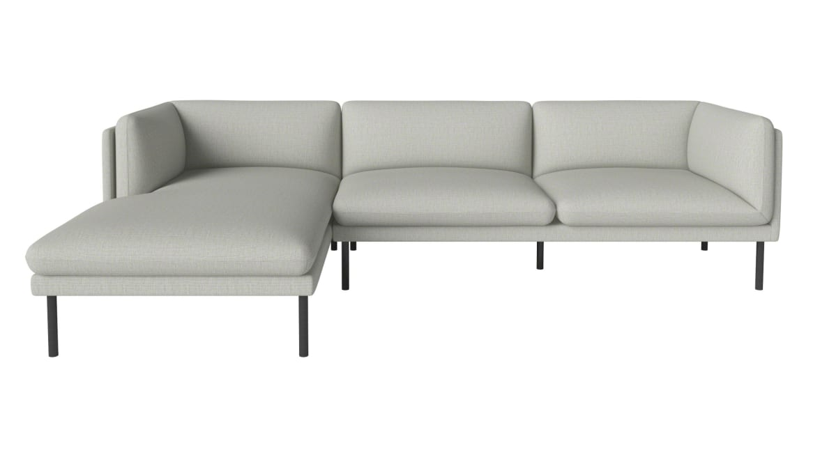 white Paste Sofa Serie with Chaise Lounge
