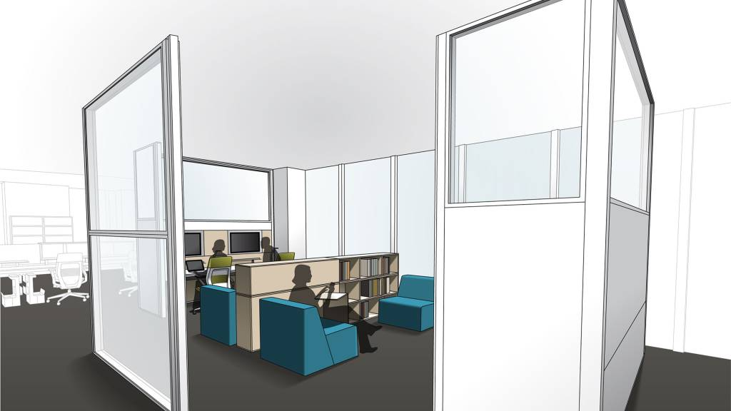 L 39 intimit comme solution steelcase for Limited space storage solutions