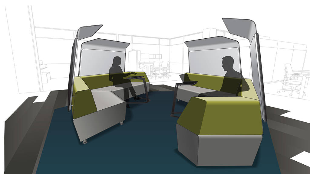 shielded conversation lounge
