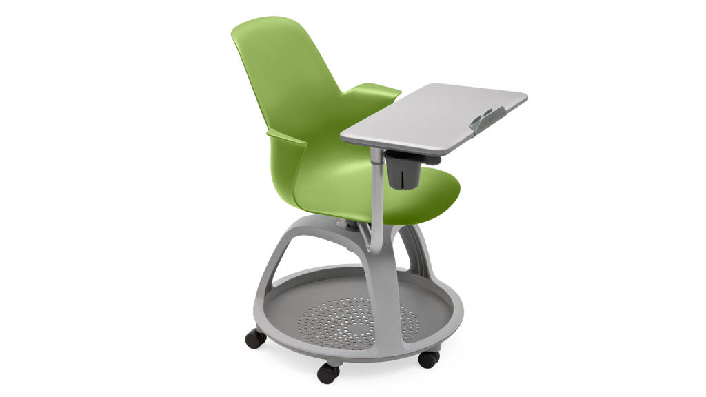 Node chair tripod-base with tablet stand and cupholder (color: wasabi)