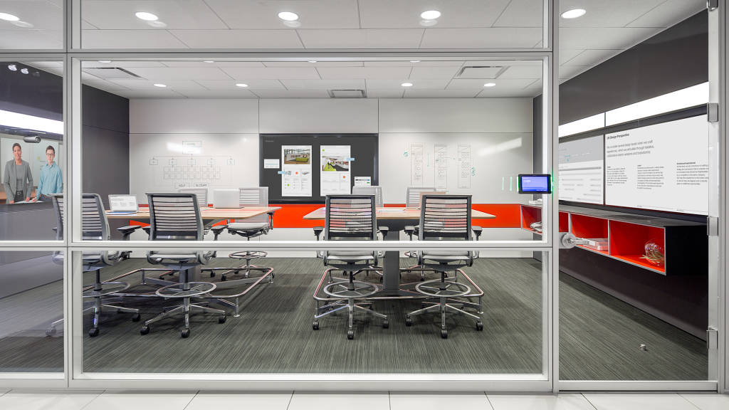 Steelcase showcases intelligent office concept product for Office design concepts and needs