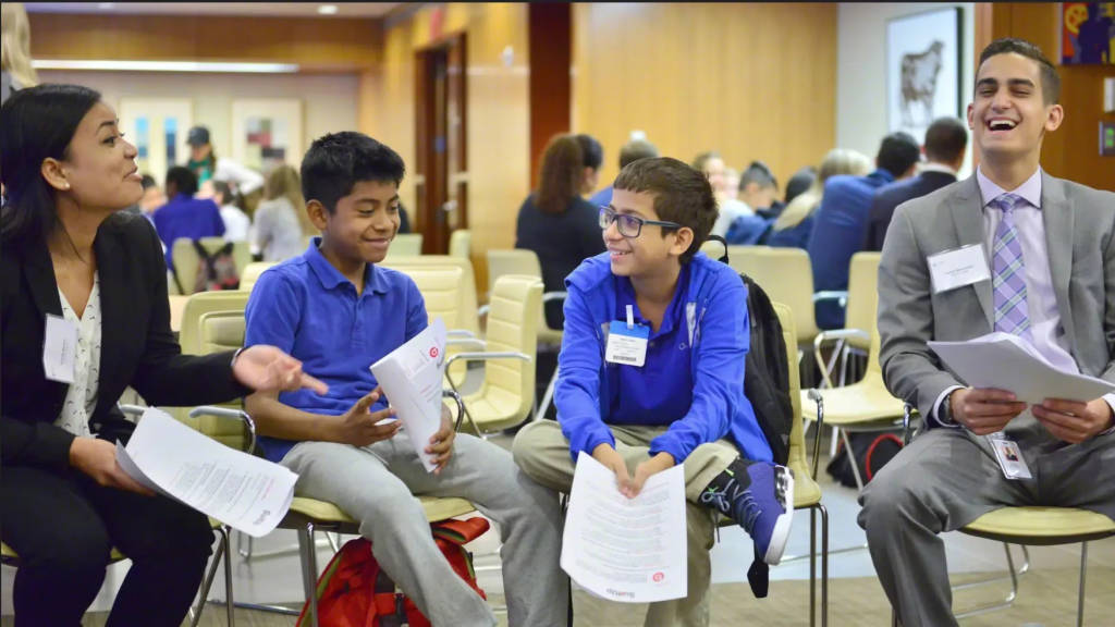 Kids and Volunteers participate in SuitUp