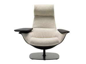 Massaud lounge chair with tablet arm
