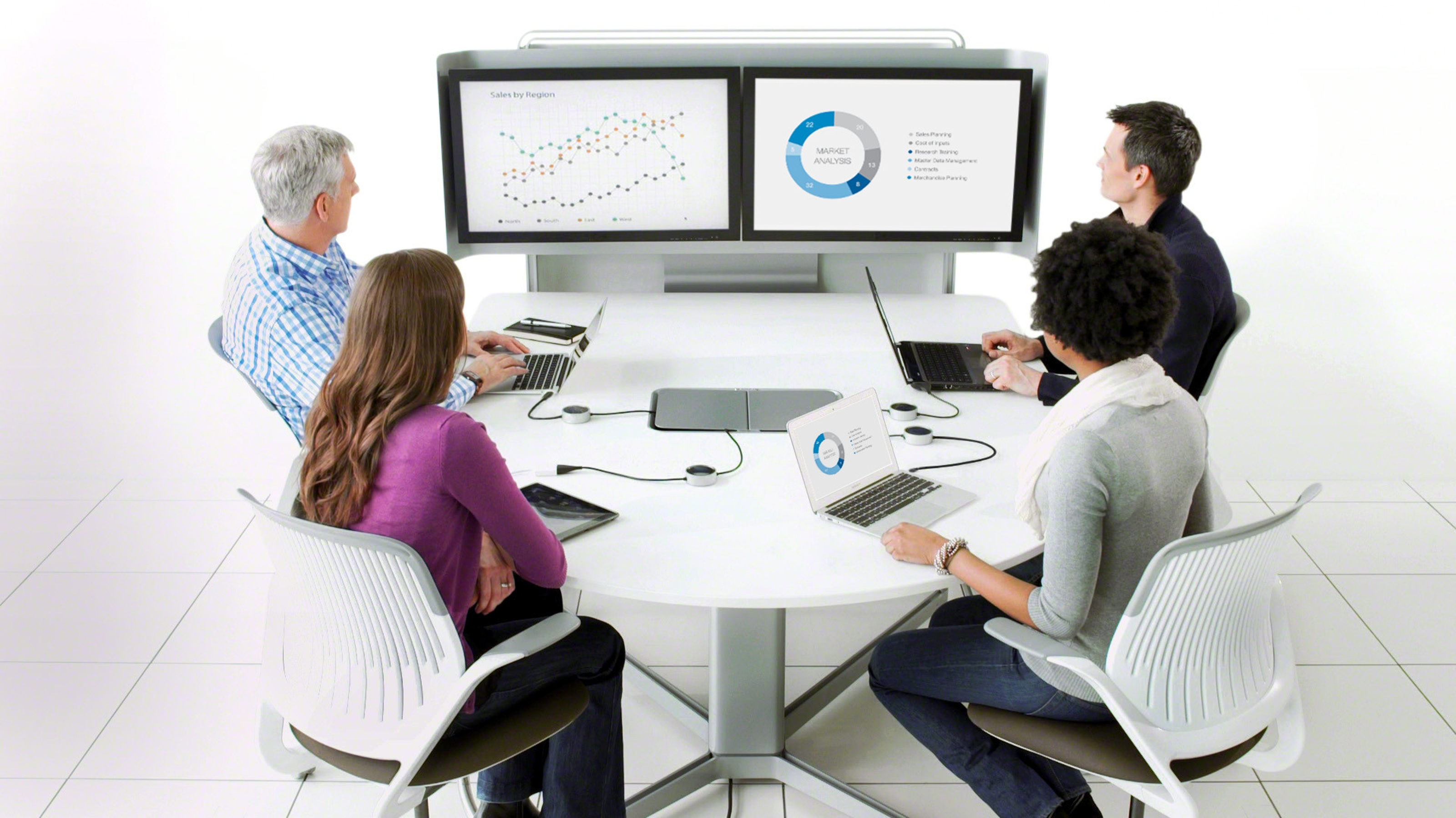 Collaborative Classroom Technology ~ Media scape meeting conference technology steelcase