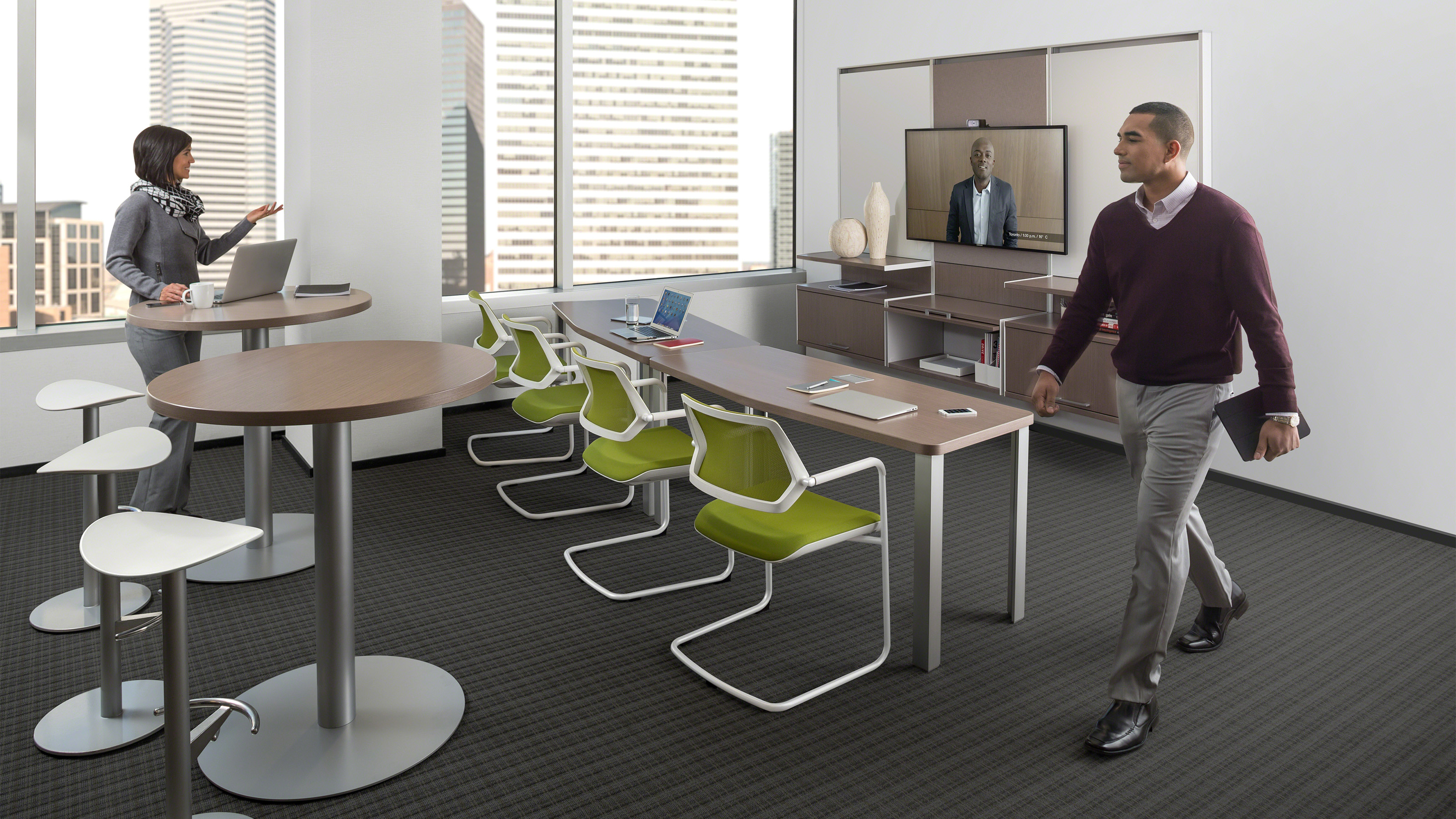 Convene meeting room conference tables steelcase for Bureau of the hidden ones