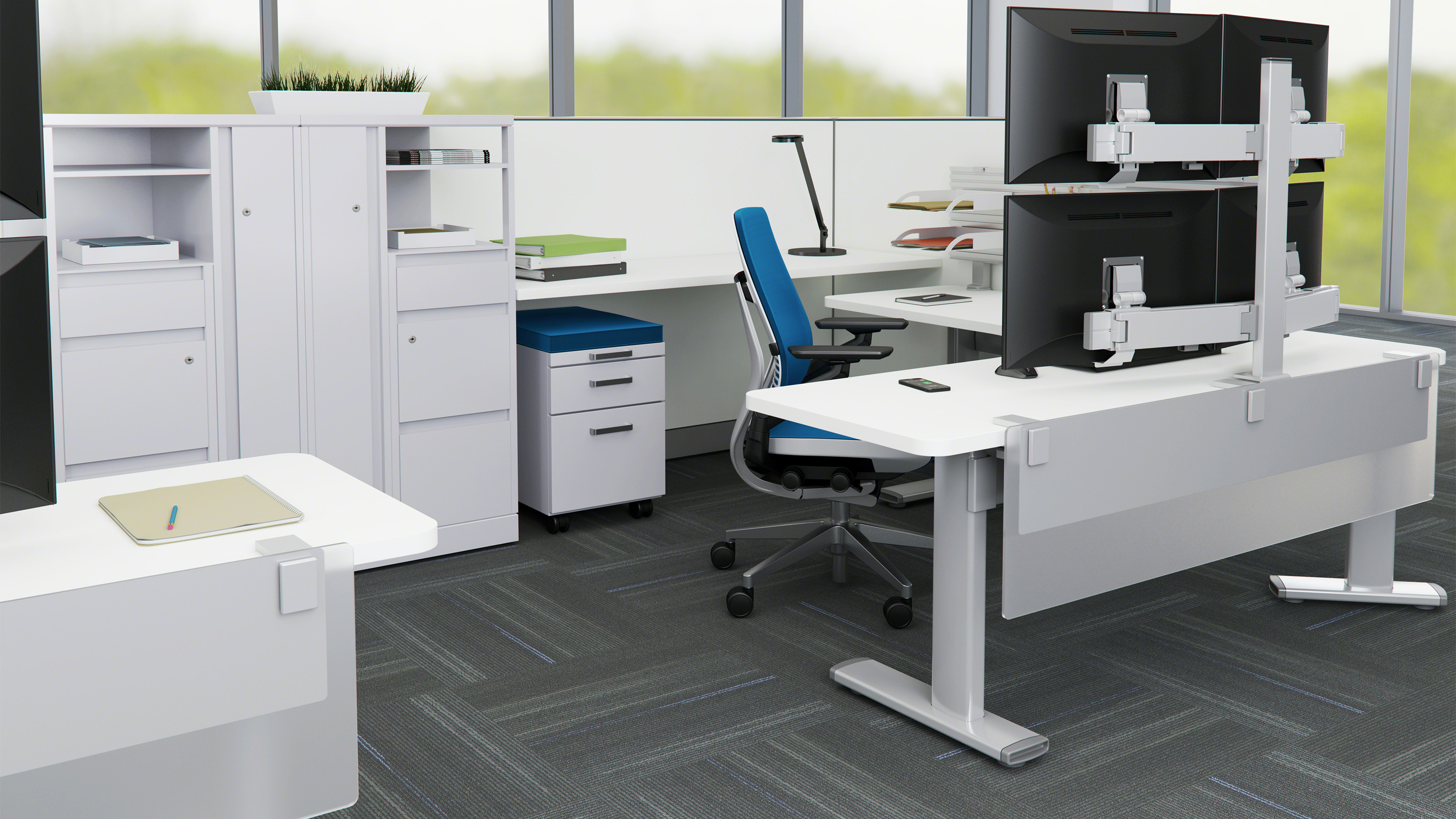 series  electric adjustable tables  steelcase -