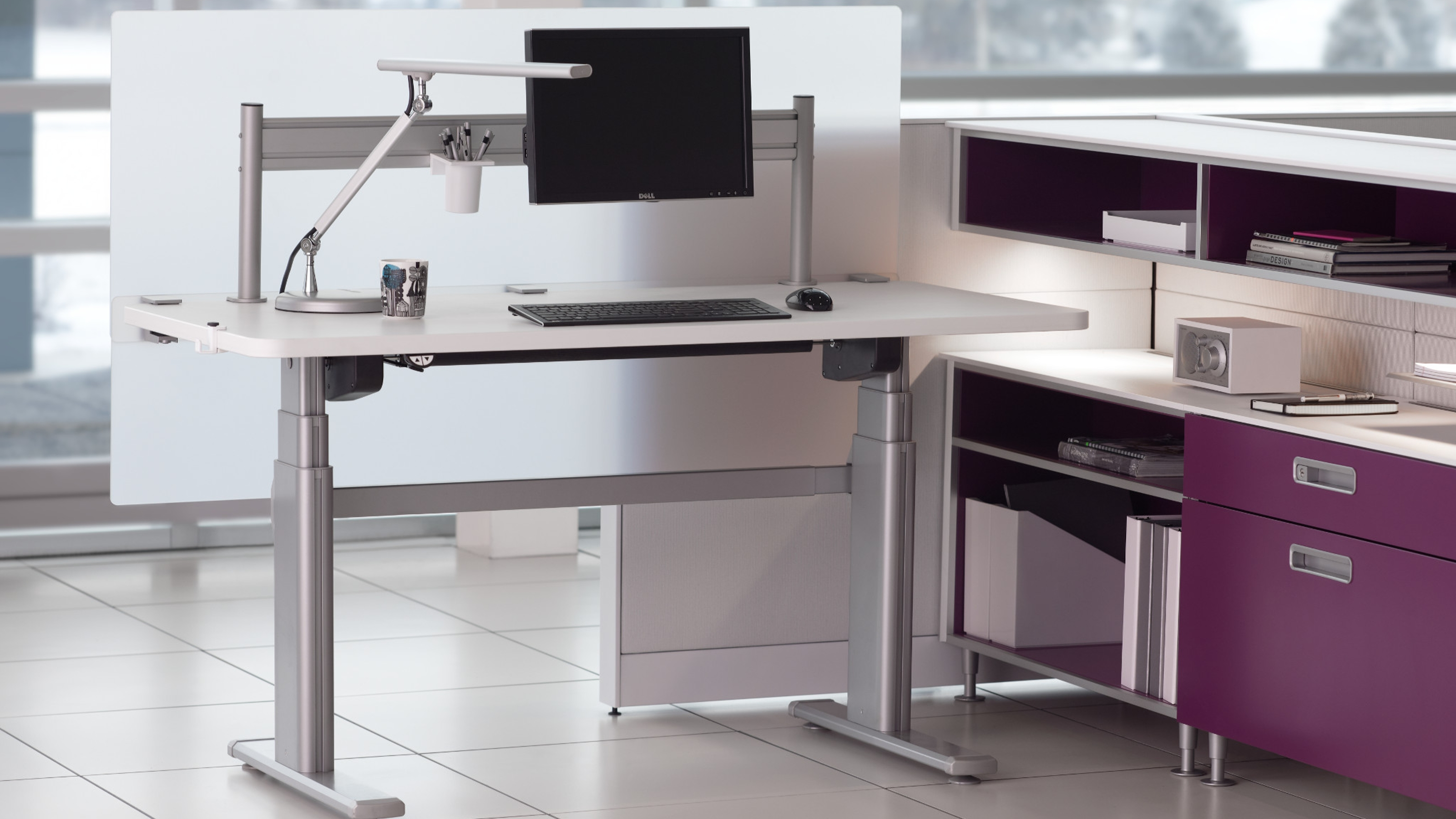 series 5 electric office table & workstation - steelcase
