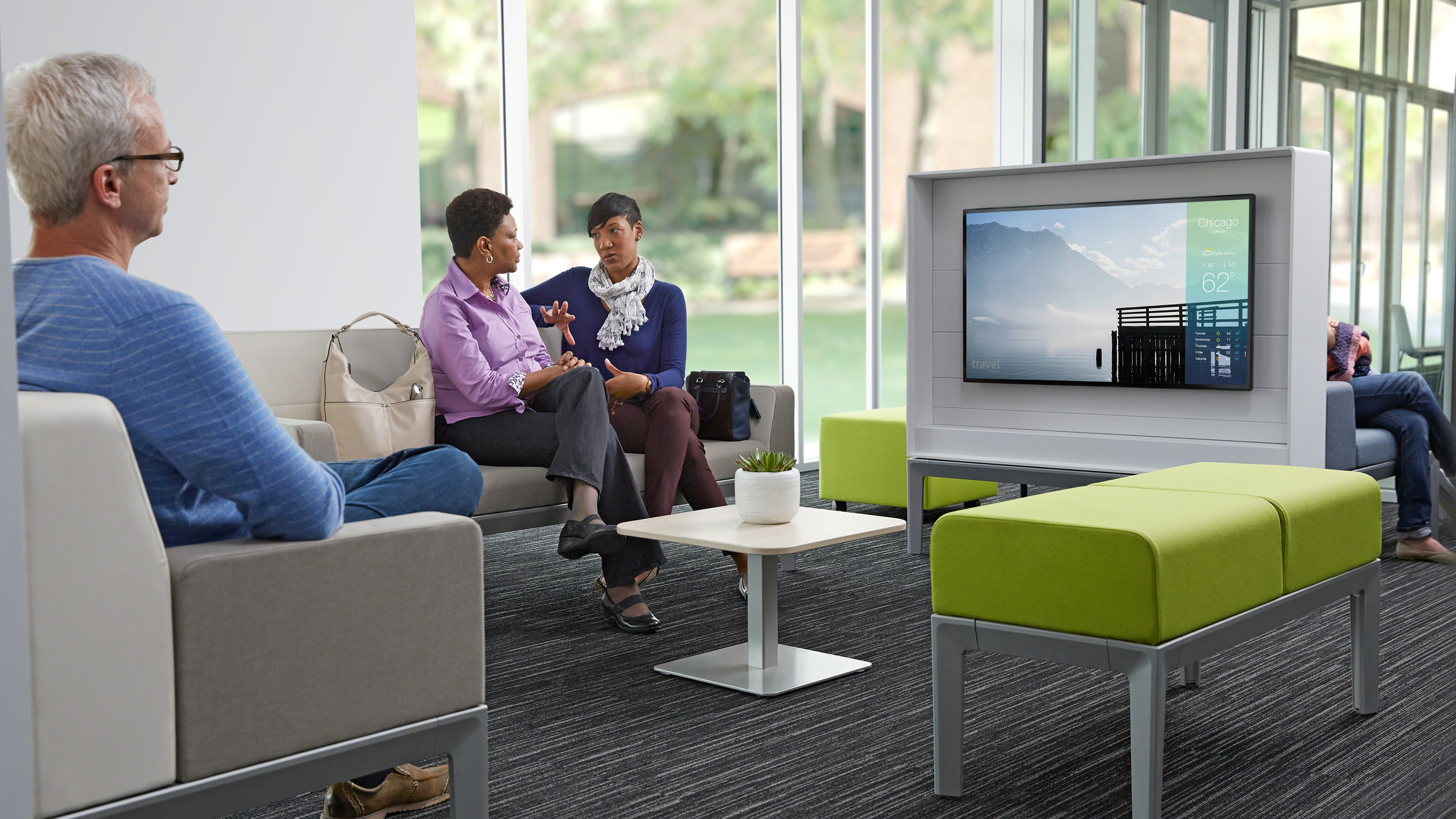 Connected waiting room chairs - New Insight Into The Patient Experience