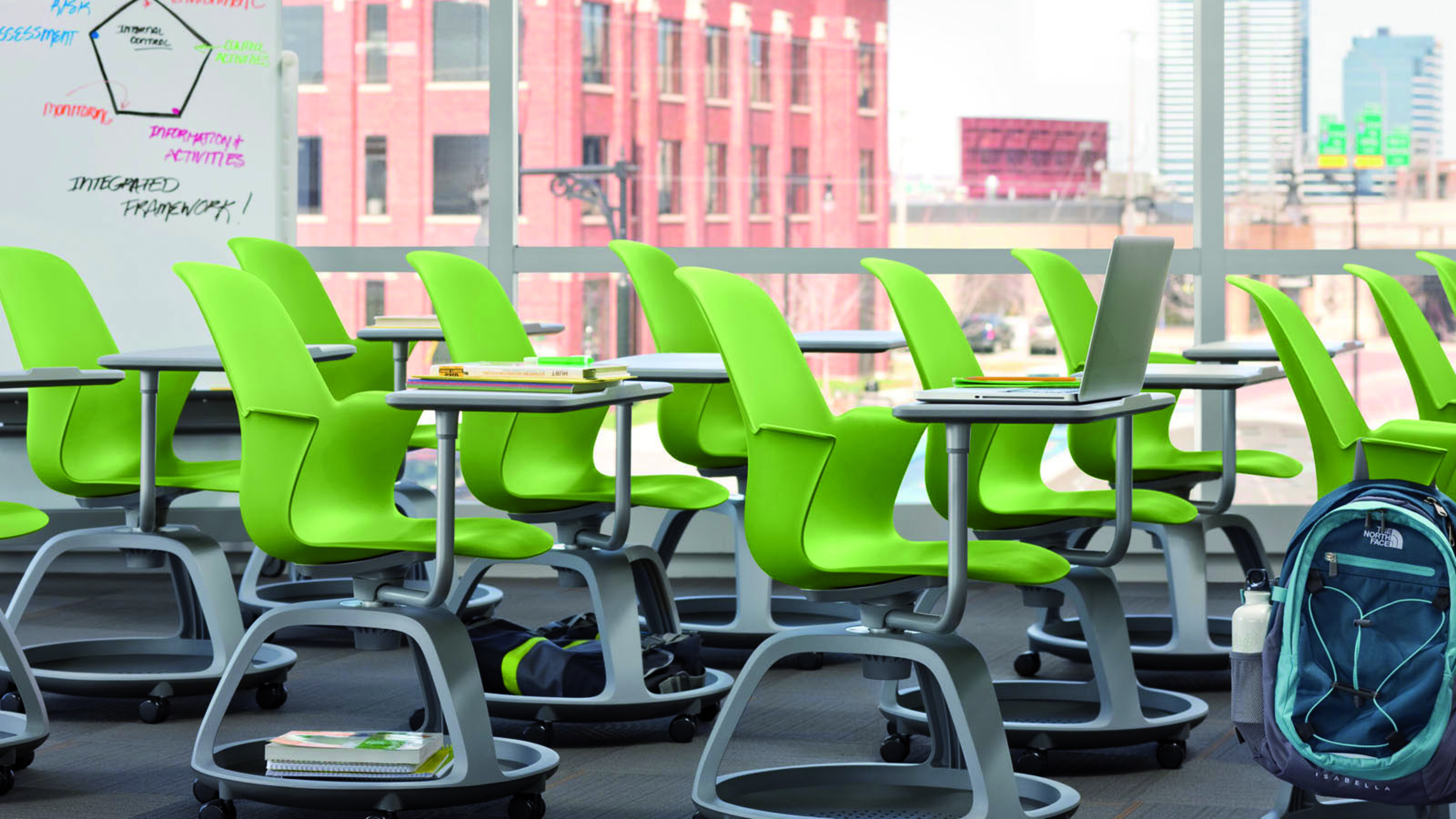 Collaborative Classroom Writing ~ Node classroom chairs for active learning steelcase