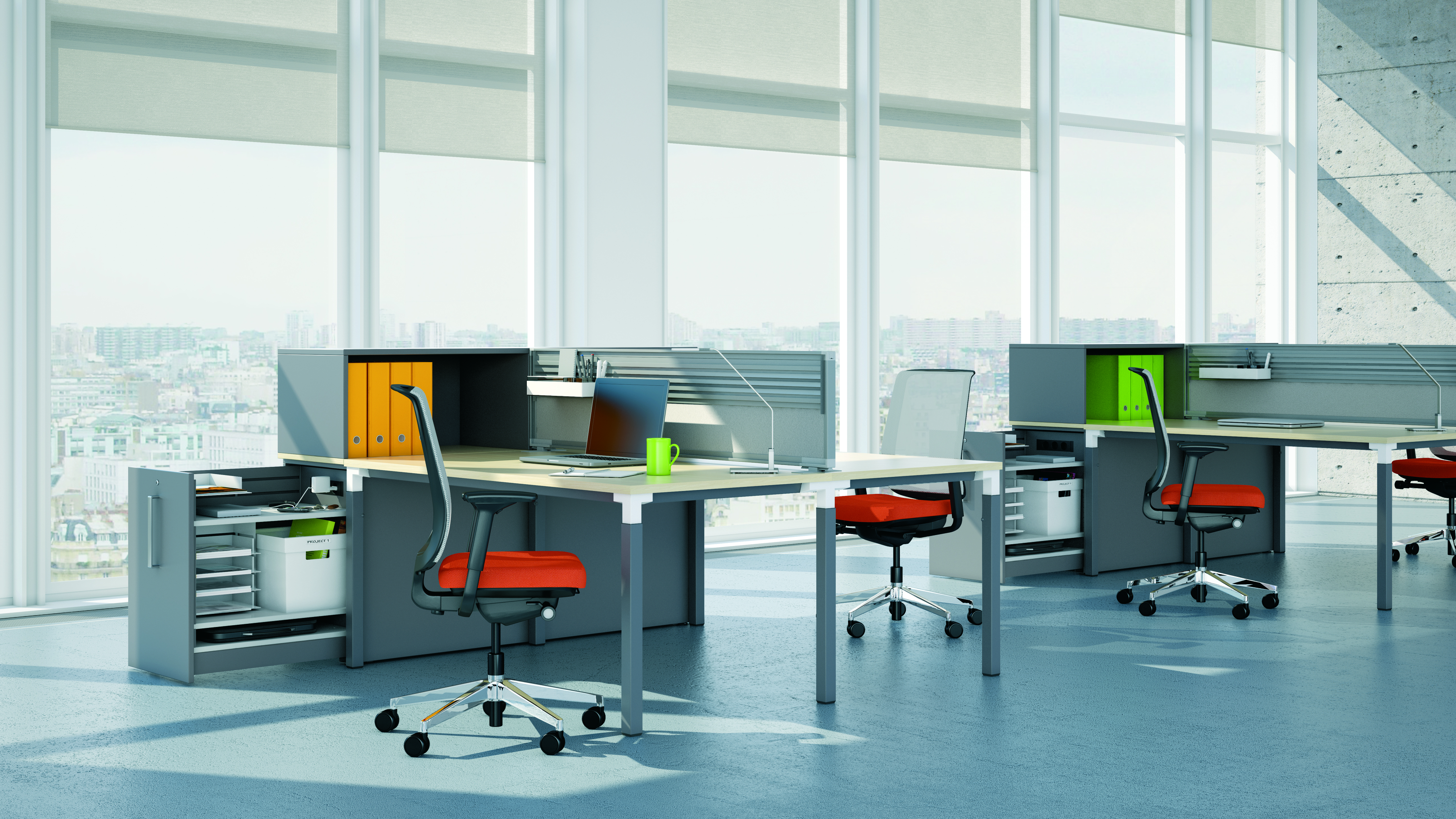 High Density Storage Amp Work Space Divider Steelcase