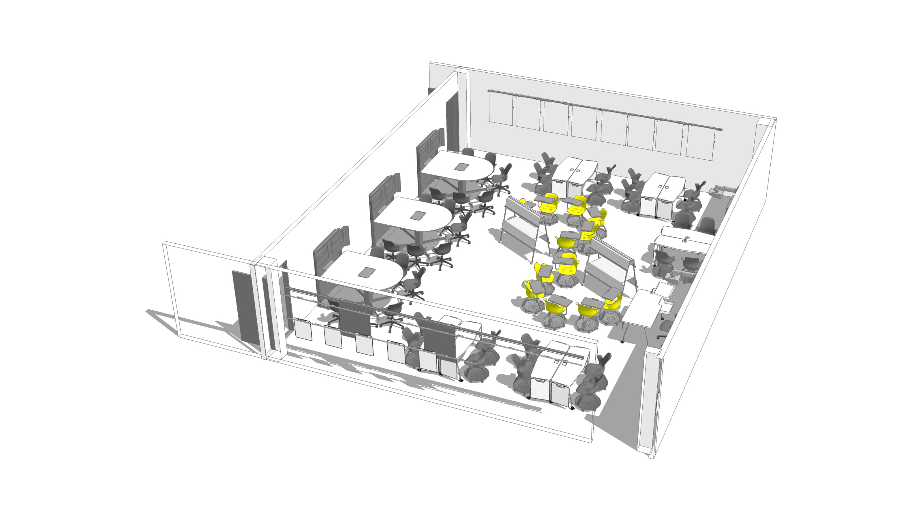 2d amp 3d space planning ecos office furniture - 1301xg3v