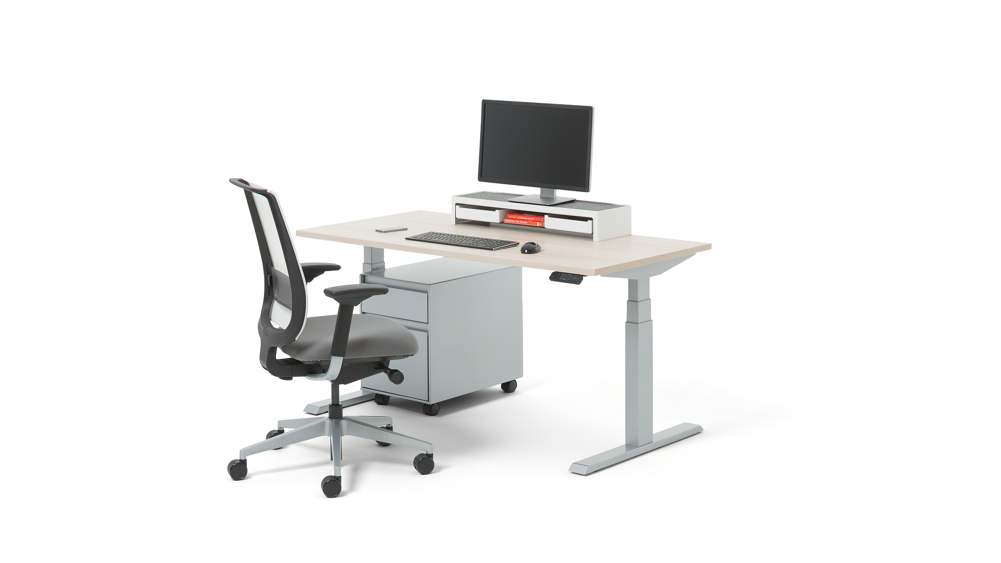 Outstanding Migration Electric Height Adjustable Standing Desk Steelcase Download Free Architecture Designs Grimeyleaguecom
