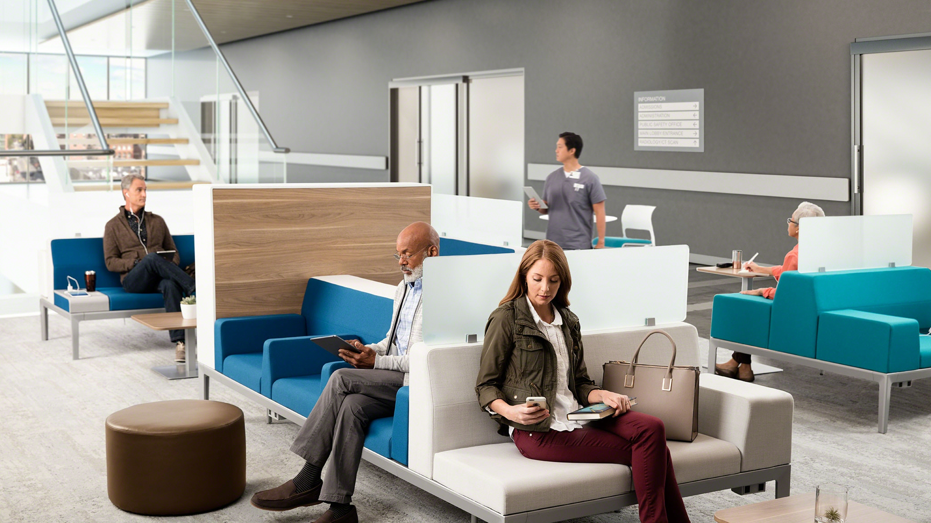 Health Spaces Transition Waiting Steelcase